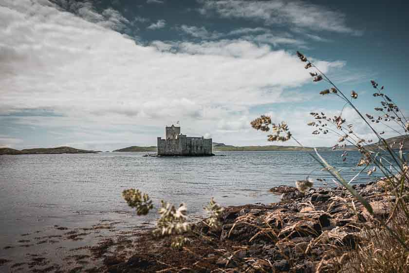 Kisimul Castle in the bay of Castlebay on the Isle of Barra