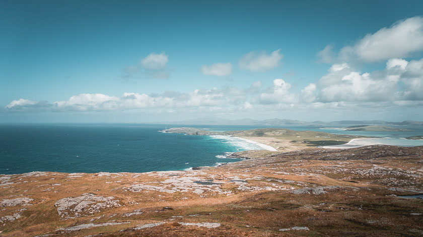 The view from Beinn Chliaid on the Isle of Barra.